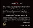 2013 Voignier Back Label